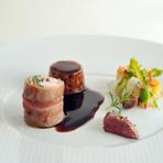 クラシカルなフレンチ食材を、シェフならではの調理とソースで