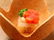 食前酒/先付/前菜/ふぐ刺し/ふぐ唐揚げ/ふぐ鍋/雑炊/香の物/デザート/お抹茶のフルコース。