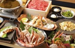 蟹好きにはたまらない!!ワンランク上のご宴会にお薦めのコース。飲み放題はドリンクなんと70種超!