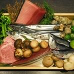 新鮮な季節のお魚をお出ししております。