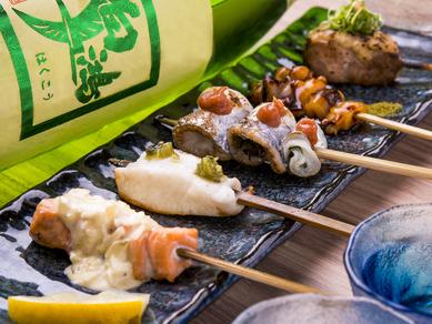 種類豊富で食べやすい!焼き鳥感覚の焼き魚「串焼き5本セット」