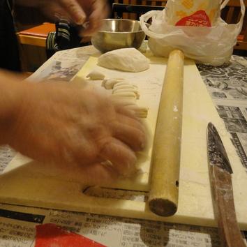 絶品 「手のべうどん鍋」 (おかんの味) 3000円