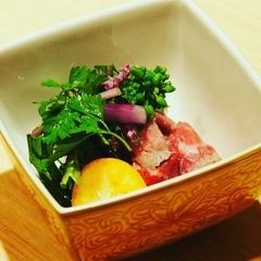 京料理に牛肉を取り入れた『肉懐石』  ☆旬の野菜もバランスよく入れております。