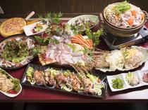 米子のおいしいものを、すべて食べられるお得なコースもあります
