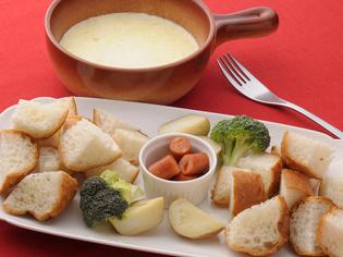 白トリュフの香り高い『ピエモンテ風 チーズフォンデュ』