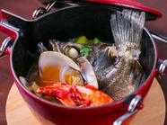 シェフ一押し。垂水の海の幸『魚介のスープ仕立て 土瓶蒸し風』