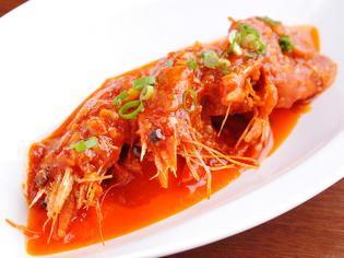 「国産豚肉」などの国産食材や「天然海老」を中心に使用
