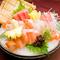 旬の鮮魚を彩りあざやかに盛りつけた『お刺身 3種盛/5種盛』