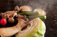 三島の新鮮地場野菜。旬のみずみずしさ満載『野菜の鉄板焼き』