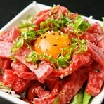 高知直送桜肉のユッケ   980円