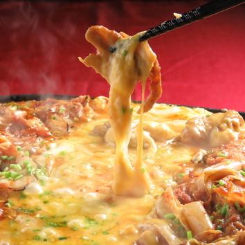 【チーズタッカルビ2種類のチーズで大満足コース】7品飲放3980円