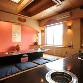 落ち着ける雰囲気の個室は宴会などにピッタリ
