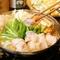 鍋料理は、近江牛と名古屋コーチンの二種類から選べます