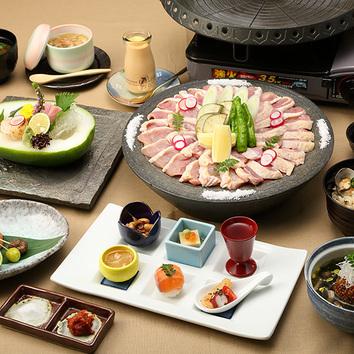 近江鶏鉄板焼きコース 3500円