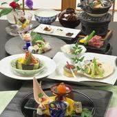 「京料理」の繊細優美、「フレンチ」の豪快エキゾチック、美味が奏でる協奏曲をお愉しみください。