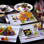 彩りもあざやかな野菜を味わう『ご褒美コース』
