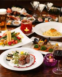 前菜から、魚料理、肉料理、パスタと手間をかけた家庭にはない味が楽しめるお得なコース!
