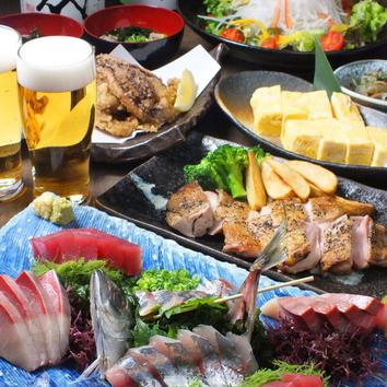 【日本酒好きにお勧め】イケ酒150分飲み放題・お料理8品コース