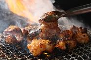 炭焼きで炙ったときの食材の美味しさは格別です
