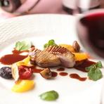 『青森産バルバリー鴨のロースト』(お肉料理)