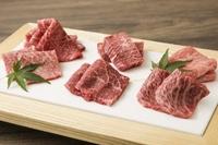 国産黒毛和牛の中でも最高級とされるA5ランクのみ使用 料理長お勧めの極上希少部位盛り合わせがこの価格!