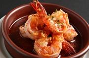 海老のプリプリとした食感にニンニクの辛味が食欲を誘います。