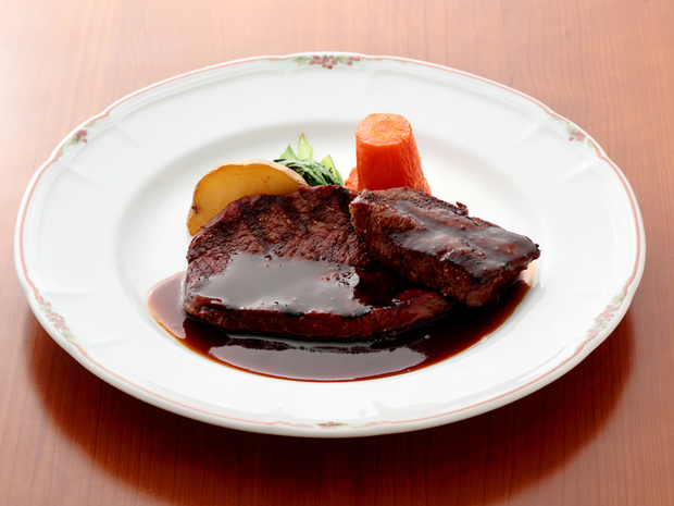 足柄牛のステーキ