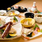 全12品・和牛網焼きに加え、タラバ蟹 又は 毛蟹を加えた特別コースです!