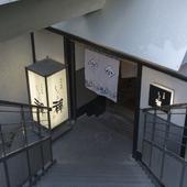 天神偕成ビルの階段を降りると現れる、モダンで隠れ家的お店