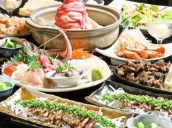 とりやを食べ尽くす大満足、大満腹のコース!