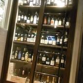 おもわず「ジャケ買い!」してしまう見えるワインセラーを設置!