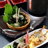 旬の野菜、魚、シンプルに素材の味を活かしています