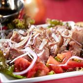 甘酸っぱいソースで食べる『リブフィンガーのオーブン焼き』
