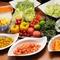 新鮮な旬の野菜をサラダでたっぷり堪能できます