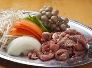 風味豊かな逸品『アップルジンギスカン ~味付~』 野菜付き  野菜なし*980円