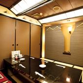 接待から飲み会まで幅広く利用可能な個室