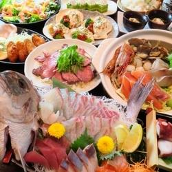 当店最上級贅沢プラン!豪華海鮮尽くしの10品!日~金は+10円で串焼き+ポテト+枝豆食べ放