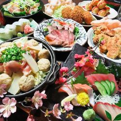 全8品★飲み放題3時間お楽しみ頂けます♪さらに日~金限定☆お肉・枝豆・ポテト食べ放題たったの+29円☆