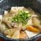 野菜たっぷりのやさしい味『ゆふいん野菜の団子汁』