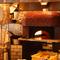 オープンキッチンにある、500度の高温で焼き上げるピザの石釜