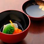 人参、サトイモ、インゲンと、シンプルながら、素材本来の旨みを堪能できる基本の料理です。