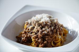 肉々しいソースの『タリアテッレ ボロネーゼ』