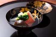 合わせ出汁が香る『聖護院蕪と金目鯛と生きくらげのお椀』