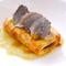 熊本県産馬肉のカルパッチョ パルメザンチーズのソース