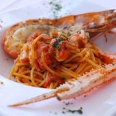 旨味を余すことなく引き出した『赤座海老のスパゲッティ』