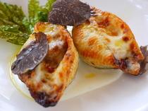 貝殻の形のパスタが可愛らしい『コンキリエのグラタン』