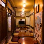 各種宴会対応可能! 30名まで座ることができる座敷あります。