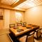 落ち着きある佇まいの個室での会食も人気