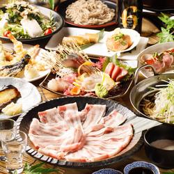 季節の食材をふんだんに使ったお料理とにっぽん市名物のみぞれしゃぶしゃぶもついたお得なコスパコース。