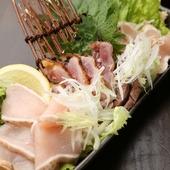 『宮崎鶏のタタキ3種盛り』